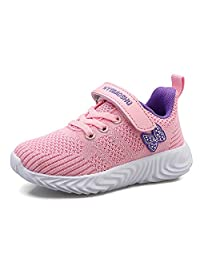 Luyosn Kids Sneakers Girls Breathable Light Mesh Sport Shoes Running Shoes for Boys Black Blue Pink Little Kid/Big Kid
