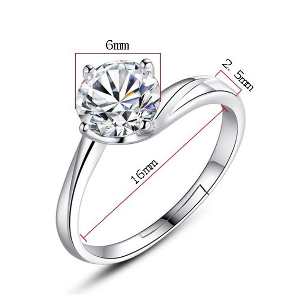 Amazon Com Qixuan S925 Silver Plated Adjustable Open Ring Elegant