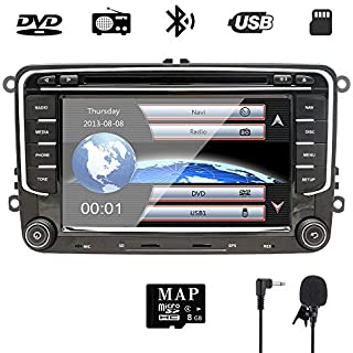 Sale Off 7 inch Double Din In Dash Car Stereo for VW Volkswagen Golf/Passat/Polo/Jetta/Tiguan/Touran/Scirocco/Skoda/Seat with DVD Player Multimedia System Support GPS Navigation USB RDS Radio Bluetooth NVGOTEV