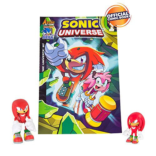TOMY Sonic Collector Series 2 Figure Pack with Comic, Classic Knuckles & Modern Knuckles