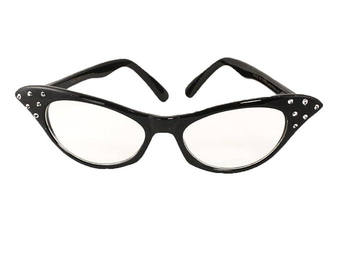 92d3faf649 Amazon.com  Black Cat Eye Glasses - Clear Lense  Clothing