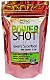 super shots - 100 % PURE - Raw Organic Vegan - Power Shot Greens Superfood Blend - Spirulina, Chlorella, Wheat Grass, Blue-Green Algae, Kale, More! - 60 SERVINGS from Essona Organics, Powder - 180 gms. Order Today!