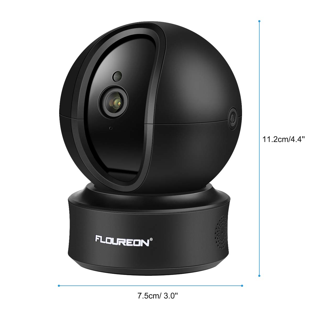FLOUREON 1080P 2.0 MP WIFI IP Camera Home Security Surveillance Smart IP Camera with Automatic tracking 360° 3D Built-in Microphone Pan/Tilt PT Wireless Micro SD Slot