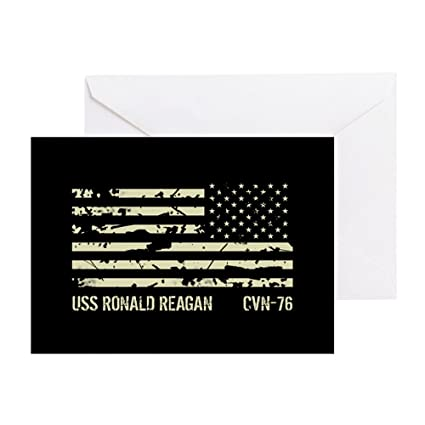 Amazon cafepress uss ronald reagan greeting card note cafepress uss ronald reagan greeting card note card birthday card blank bookmarktalkfo Choice Image