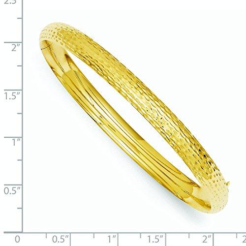 14ct Or 6,5mm Taille diamant Fancy Bracelet à charnière Bracelet