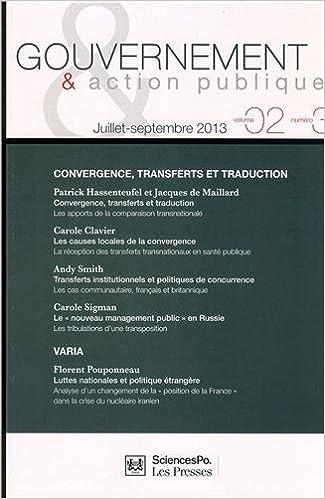 Livres gratuits Gouvernement & action publique, Volume 2 N° 3, Juillet-septembre 2013 : Convergence, transferts et traduction pdf