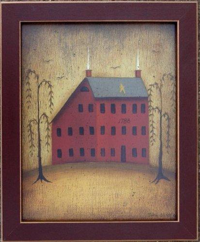 Salt Box House Willow Tree Primitive Folk Art Print (Salt Box Houses compare prices)