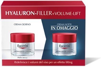Eucerin - Estuche Hyaluron Filler+Volume Lift crema día piel seca + crema noche regalo: Amazon.es: Belleza