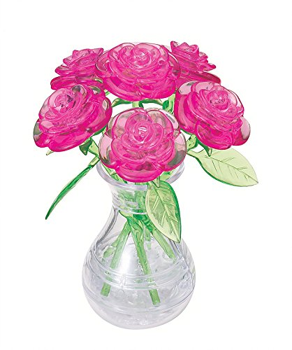 Amazon Original 3d Crystal Puzzle Pink Roses In A Vase Toys