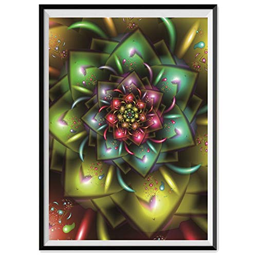 DIY 5D Diamond Painting,Dartphew [ Magic swirls seven colors lotus ] - Creative Sewing Cross Stitch & Crafts,Wall Stickers for Decoration Home Lving Room (Magic,30x40cm)