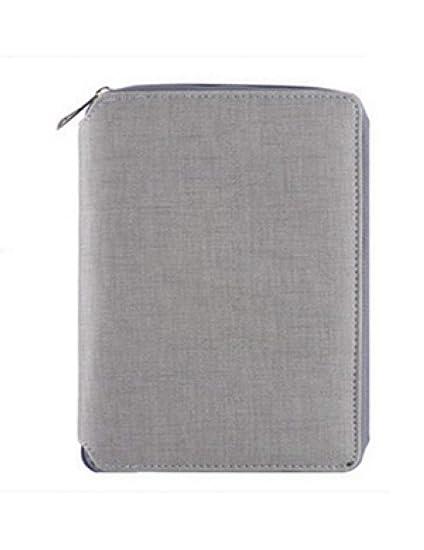 KZIOE Cuaderno Espiral De Cuero A5, Organizador De ...