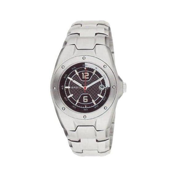 Breil Reloj Analógico para Hombre de Cuarzo con Correa en Acero Inoxidable BW0250: Amazon.es: Relojes