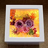 Imported live flower glass box Rose flower and flowers Mother's day-X