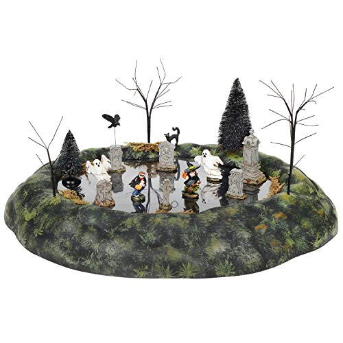 Department 56 Village Collection Accessories Halloween Ghosts in Graveyard Animated Figurine Set, 7.87 Inch, Multicolor