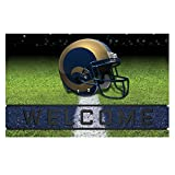 Fanmats 19961 Team Color Crumb Rubber Los Angeles Rams Door Mat, 1 Pack