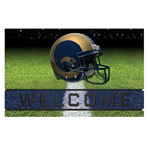 Fanmats 19961 Team Color Crumb Rubber Los Angeles Rams Door Mat, 1 Pack by Fanmats