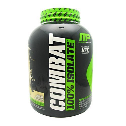 Muscle Pharm Hybrid Series Combat 100% Isolate - Vanilla Ice Cream - 5 lbs (2269 grams) by Muscle Pharm