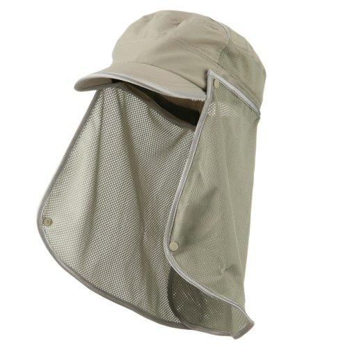 UV 50+ Talson Removable Flap Fidel Cap - Khaki OSFM