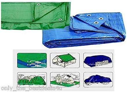 ligera Lona de protecci/ón con ojales muy resistente BLUE/_6X4 impermeable de Shine