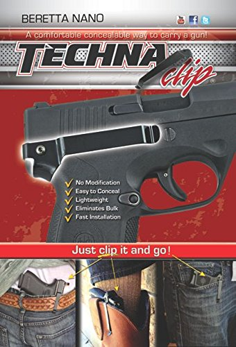 Techna Clip - Beretta Nano .9MM - Conceal Carry Belt Clip (Right-Side), Black