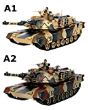 """M1A2 Abrams USA Battle Tank RC 16"""" Airsoft Military Vechile with Sound (Color May Vary)"""