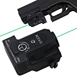 Lasercross L101G Tactical Compact Green Dot Laser Sight with 20mm Rail Picatinny On/Off Switch for Air Pistol,Airgun,Modem Semi-automatic Pistols,Handgun,Shotguns,Rifle etc