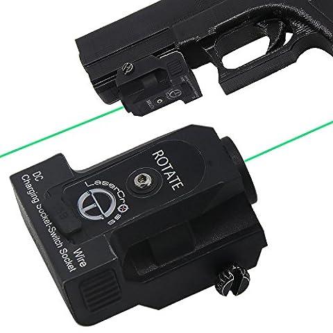Lasercross L101G Tactical Compact Green Dot Laser Sight with 20mm Rail Picatinny On/Off Switch for Air Pistol,Airgun,Modem Semi-automatic Pistols,Handgun,Shotguns,Rifle (Green Dot Laser For Gun)