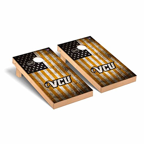 Victory Tailgate Virginia Commonwealth University Rams VCU Operation Hat Trick Cornhole Game Set Vintage Flag OHT Vintage Flag by Victory Tailgate