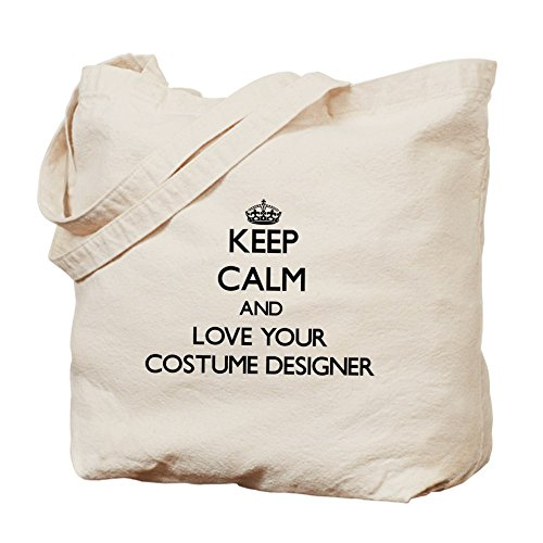 CafePress - Keep Calm and Love your Costume Designer Tote Bag - Natural Canvas Tote Bag, Cloth Shopping (Costume Jobs)