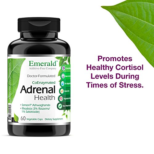 Adrenal Health - with Sensoril Ashwagandha for Improved Energy Levels, Sleep Support, Stress Relief, Promotes Mental Clarity - Emerald Laboratories - 60 Vegetable Capsules by Emerald Laboratories (Image #3)