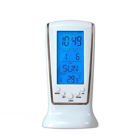 XIAOLI& Reloj Digital Led Sincronización Fecha Temperatura ...