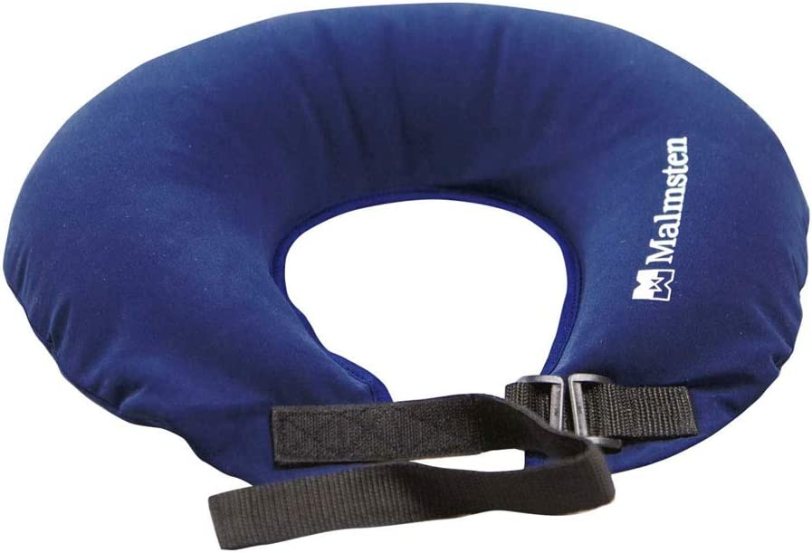 One Size Blue Malmsten Unisexs Swimming Neck Support Collar Inflatable