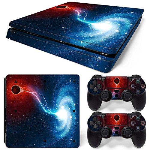 ModFreakz® Console/Controller Vinyl Skin Set - Red Lightning Swirl for PS4 Slim