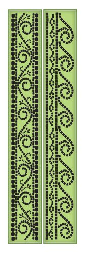 Stamps Inkadinkaclings Rubber - Inkadinkaclings Rubber Stamps That Cling, Mosaic Borders