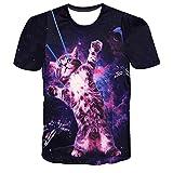 Mens T-Shirt,Cool 3D Creative Print Tee Shirt Graphic Short Sleeve Boys Blouse Zulmaliu