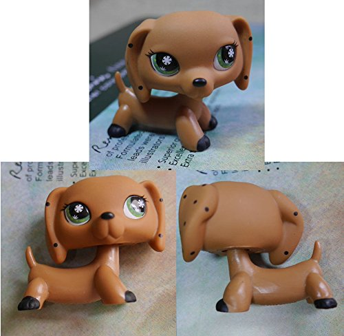 TOP Satisfied LPS Snowflake Eyes Dotty Dachshund dog pubby Figure LITTLEST PET SHOP Fast ship (Figure Snowflakes)