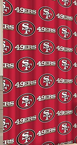 49ers Curtain Francisco San Shower - San Francisco 49ers Decorative Bath Collection - Shower Curtain by Northwest