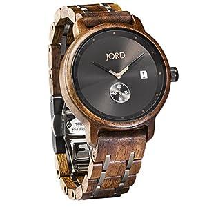 JORD Wooden Wrist Watches for Men - Hyde Series / Wood Watch Band / Wood Bezel / Analog Quartz Movement...