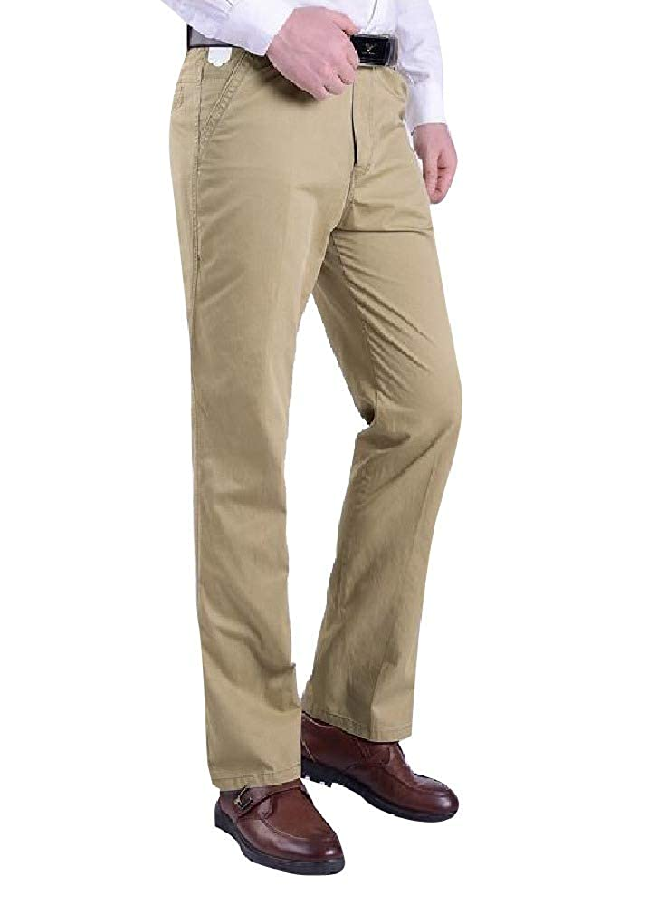 AngelSpace Mens Original Fit Business Comfort Straight Leg Casual Pants