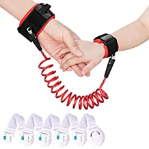 Xcellent Global 2.5m Child Anti Lost Wrist Link Harness Strap Rope Leash Safety Walking Hand Belt with 5 Pack Child Safety Locks HG205
