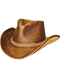 Henschel Walker, Full Grain Leather, Shapeable Brim, Braided Band