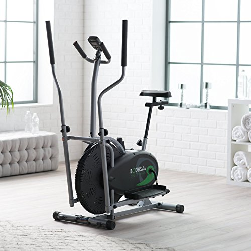 Top Rated Best Selling Affordable Total Body Workout Dual Elliptical Exercise Trainer Bike System- Excellent Craftsmanship Portable Versatile Lightweight- Steel Frame Electronic Monitoring System