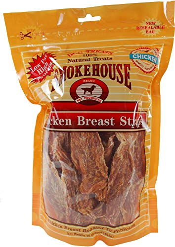 - Smokehouse Chicken Breast Strips Dog Chews, 16 Ounce, 6 Pack