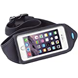 Running Belt for iPhone 6 Plus, 6s Plus with case; Also fits OtterBox Defender, Commuter & LifeProof cases for Samsung Galaxy S5, S6, S7, Note 4, 5 and LG G5 - Great for Jogging, Walking & Exercise