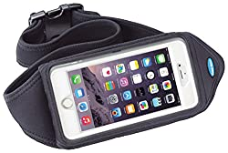 Running Belt For Iphone X, Iphone 8 7 6s 6 Plus, Note 8, Galaxy S8 Plus & More - Fits With Otterbox Defender, Commuter & Lifeproof Case - For Running & Exercise - Water Resistant [Black]