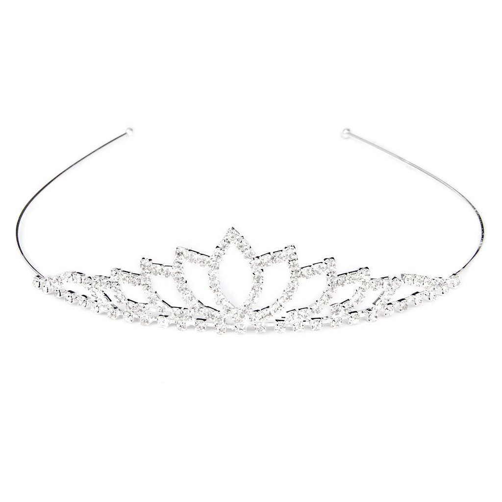 Serre-tête Couronne Diadème Princesse en Strass pour Mariage Générique 15012229