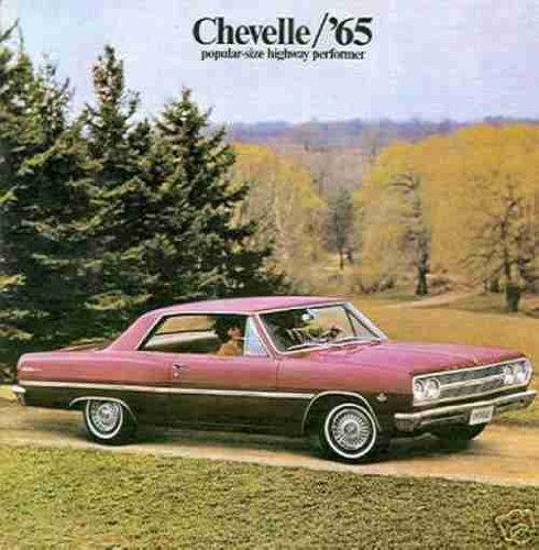 BEAUTIFUL 1965 CHEVROLET CHEVELLE DEALERSHIP SALES BROCHURE Includes Malibu, Station Wagon, 300, 300 Deluxe, SS Super Sport - ADVERTISMENT