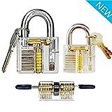 3 Pcs Transparent locks locksmith practice lock,Training Lock Tools for Locksmith
