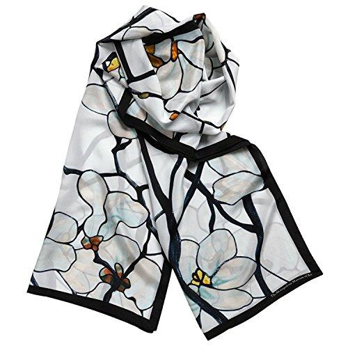 100% Silk Shawl Scarf for Womens Scarves Magnolia Louis Comfort Tiffany ()