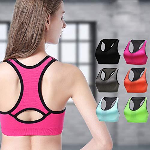 Dimensioni Antiurto Femminile Grandi Yoga Intimo Fitness Sportivo In Corsa Da Anello Dimpleya Senza Maglia m pink Sportivo Reggiseno Acciaio Green Di q46wYafgx